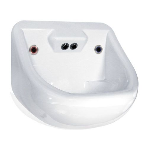 DVS Anti-Ligature High Security Basin with High-Sided Integral Backplate